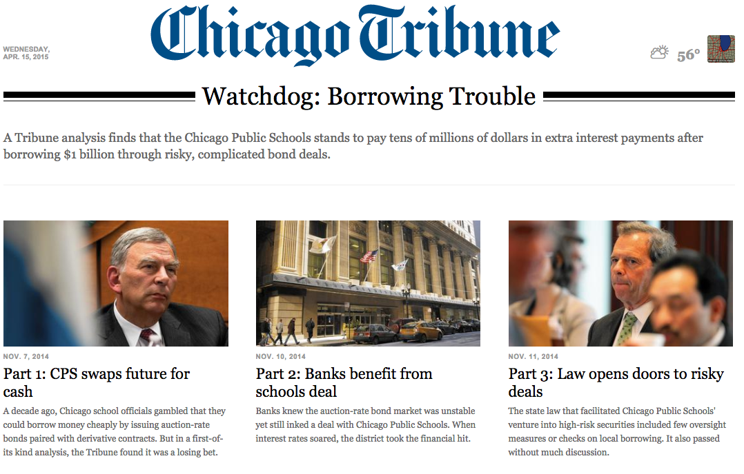 Breaking the Cycle of Financial Abuse: Communities and the Chicago Tribune Take a Stand Against Wall Street